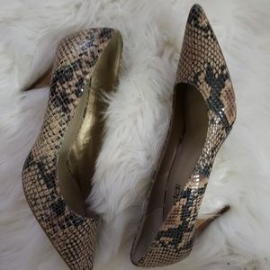 Moda Spana Snake Print Stilettos